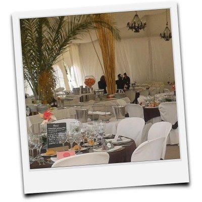 Carpas para boda detalle de decoración